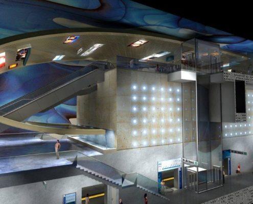 Metropolitana di Napoli Stazione San Pasquale Filippo Cannata Boris Podrecca